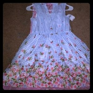 A cute country dress  with flowers